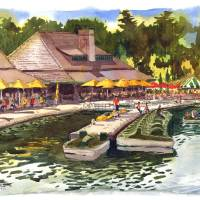 """Boat House, Forest Park"" by michaelandersonartprints"