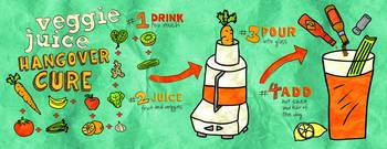 Veggie Juice Hangover Cure by Diana Heom