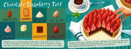 Chocolate Strawberry Tart by Nata Metlukh