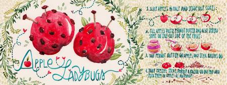 Apple Ladybugs by Madalina Andronic