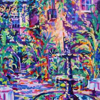 """New Orleans Courtyard"" by neworleansartist"