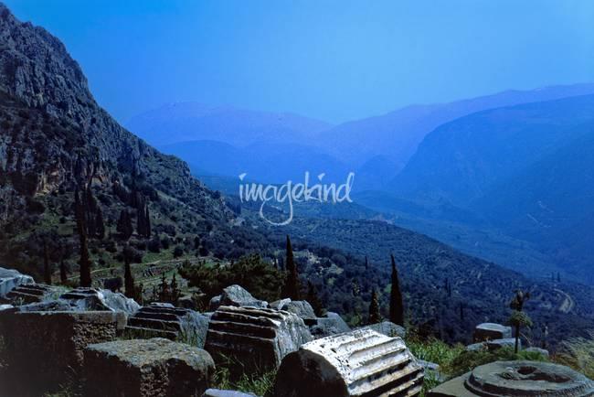 Fallen Columns in Springtime, Delphi, Greece 2003