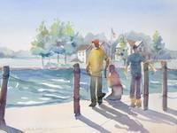North Pier Boys by KIM KLOECKER