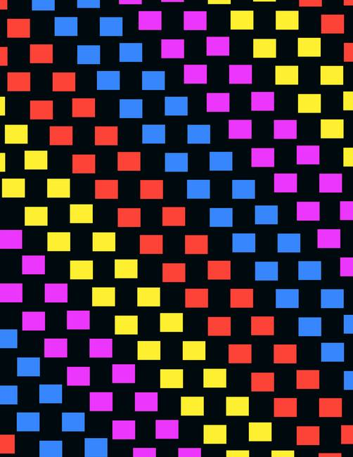 Colorful Squares )digital( by Louisa Knight