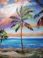 Palm Tree - Tropical Island Beach