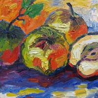 French Heirloom Apples Oil Painting by Ginette