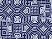 00064a Geometric art, blue