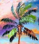 Palm Tree Colors by Mazz Original Paintings