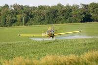 Crop dusting plane in action