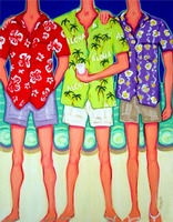 Aloha - Funny Men Hawaiian Shirts Beach Seashore