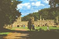 Fountains Abbey in Summer 1 by Priscilla Turner