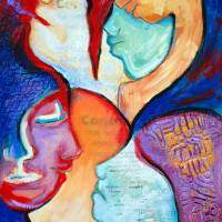 7 faces of grieving Art Prints & Posters by Claudia Johns