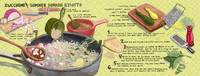 Zucchini & Summer Squash Risotto by Jessica Pollak by They Draw & Cook & Travel