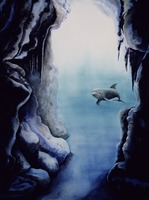 Caverna Diablo I (dolphin watercolor) by Savanna Redman
