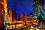 Chicago Lights and Color Posters