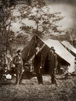 President Lincoln on the battlefield by WorldWide Archive