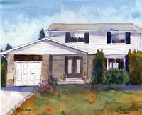 Painting from Photo, House Portrait 22 Martingrove