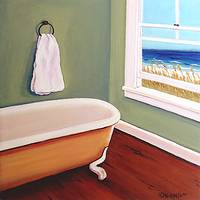 Window to the Sea No 4 - Beach Seashore Bathroom