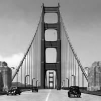 """Golden Gate Bridge c1940, San Francisco"" by worldwidearchive"