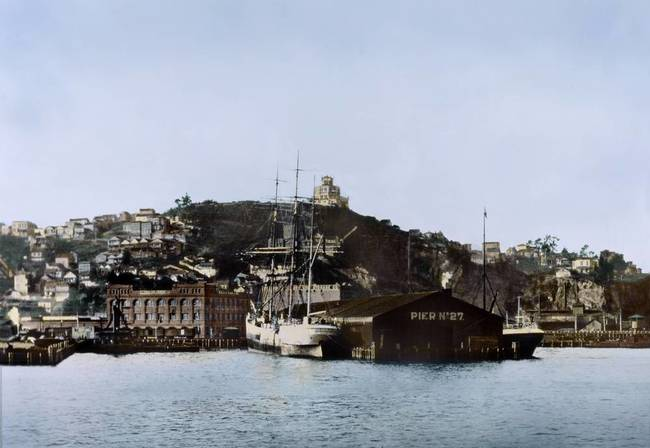 Pier 27 and Telegraph Hill, San Francisco c1895