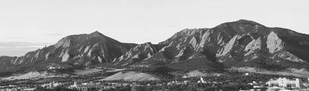 Boulder Colorado Flatirons and CU Campus Panorama