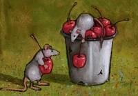 Mice Stealing Cherries