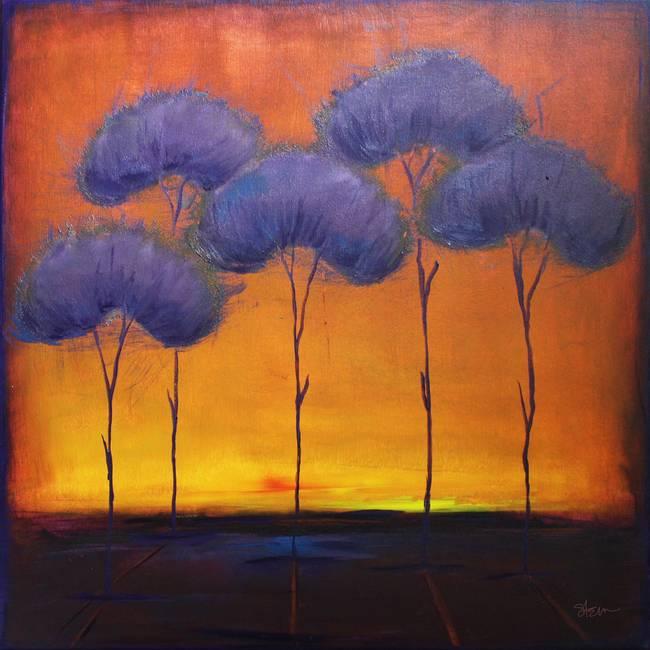 Lavender Trees By Kristensteinfineart 2011