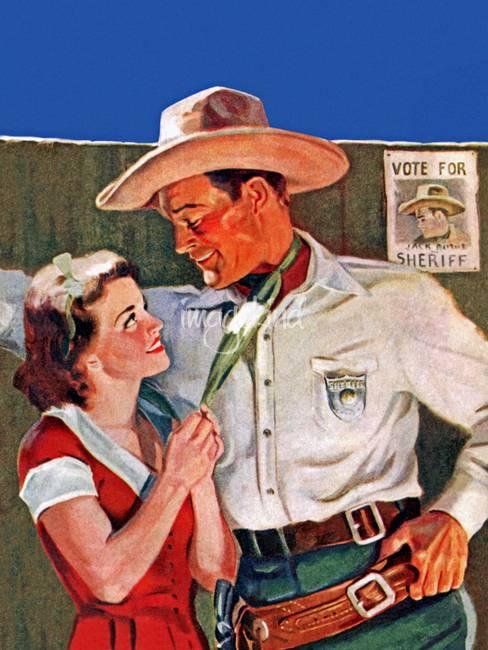 62f05678fc63a3 Wild West Romantic Cowboy Hero by ArtLoversOnline