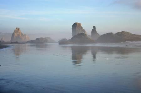 Bandon Oregon as Fog Rolls in