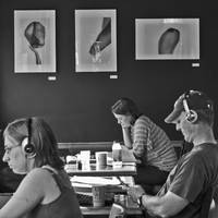 People and Art at a Coffeeshop