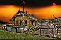 HDR SUNSET TRAIN DEPOT