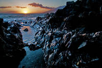 Lava Rock Sunset I