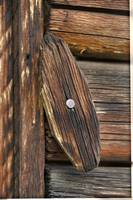 Wooden latch at Dufort Ranch