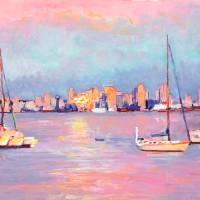 """Sunrise from Shelter Island San Diego"" by RDRiccoboni"