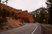 Natural tunnel in Red Canyon