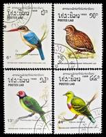 Collection of birds stamps.
