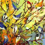 16 Birds Collage by Jennifer Lommers