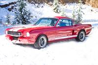 Red Ford Mustang Shelby 1966