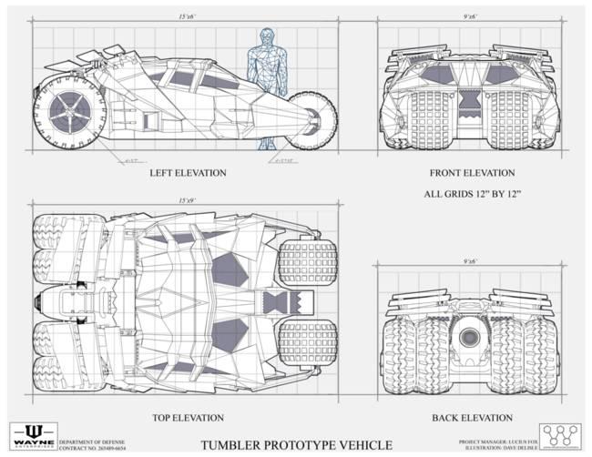 Dorable blueprint com composition electric circuit diagrams tumbler batmobile blueprint by dave delisle malvernweather Choice Image