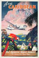 Poster advertising Pan American World Airlines