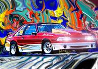 87 Pro Stock Ford Mustang GT