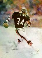 Sweetness Walter Payton Chicago Bears Portrait Art