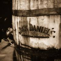 """Jack Daniels Whiskey Barrel: Sepia"" by rmcbuckeye"