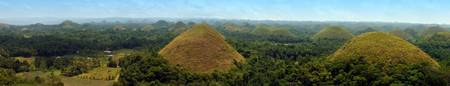 Chocolate Hills Panarama