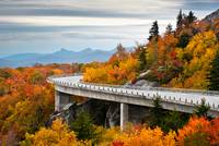 Linn Cove Viaduct - Blue Ridge Parkway Fall Foliag