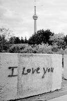 I Love You Graffiti -- CN Tower
