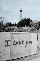 I Love You Graffiti -- CN Tower (Sky Blue)