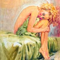 Woman In Blissful Ecstasy Art Prints & Posters by Sher Nasser