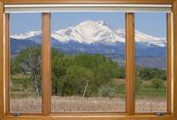 Meeker and Longs Peak Window View