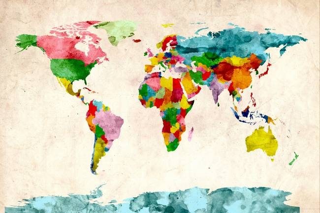 World map watercolors by michael tompsett gumiabroncs Images